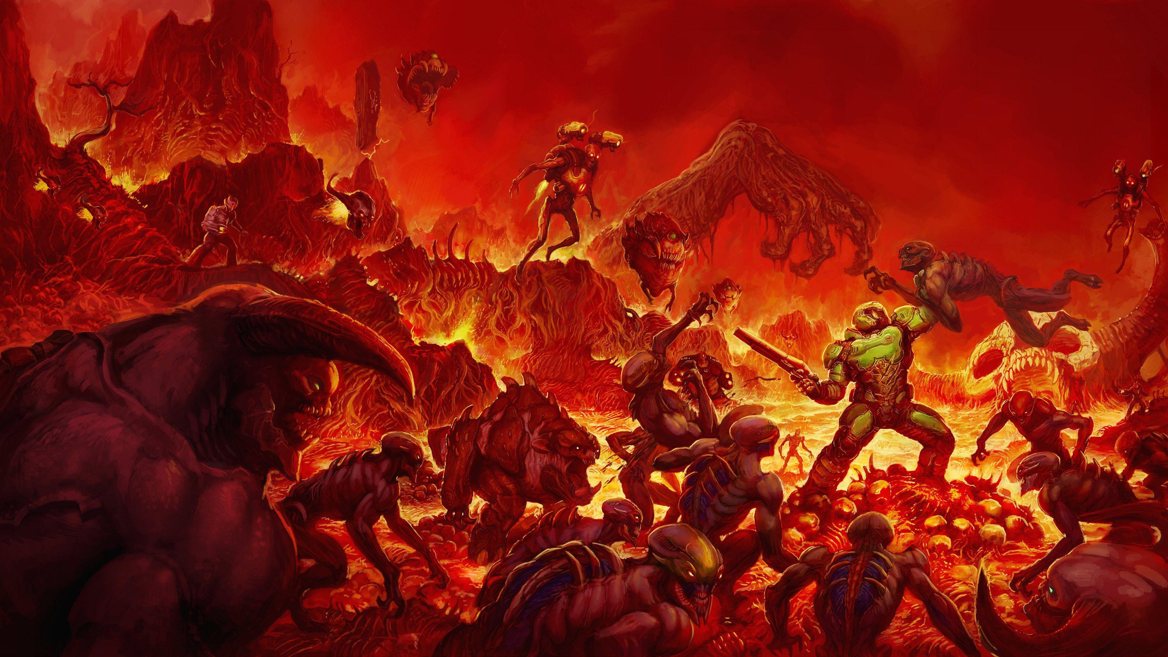 doom eternal dlc wallpaper