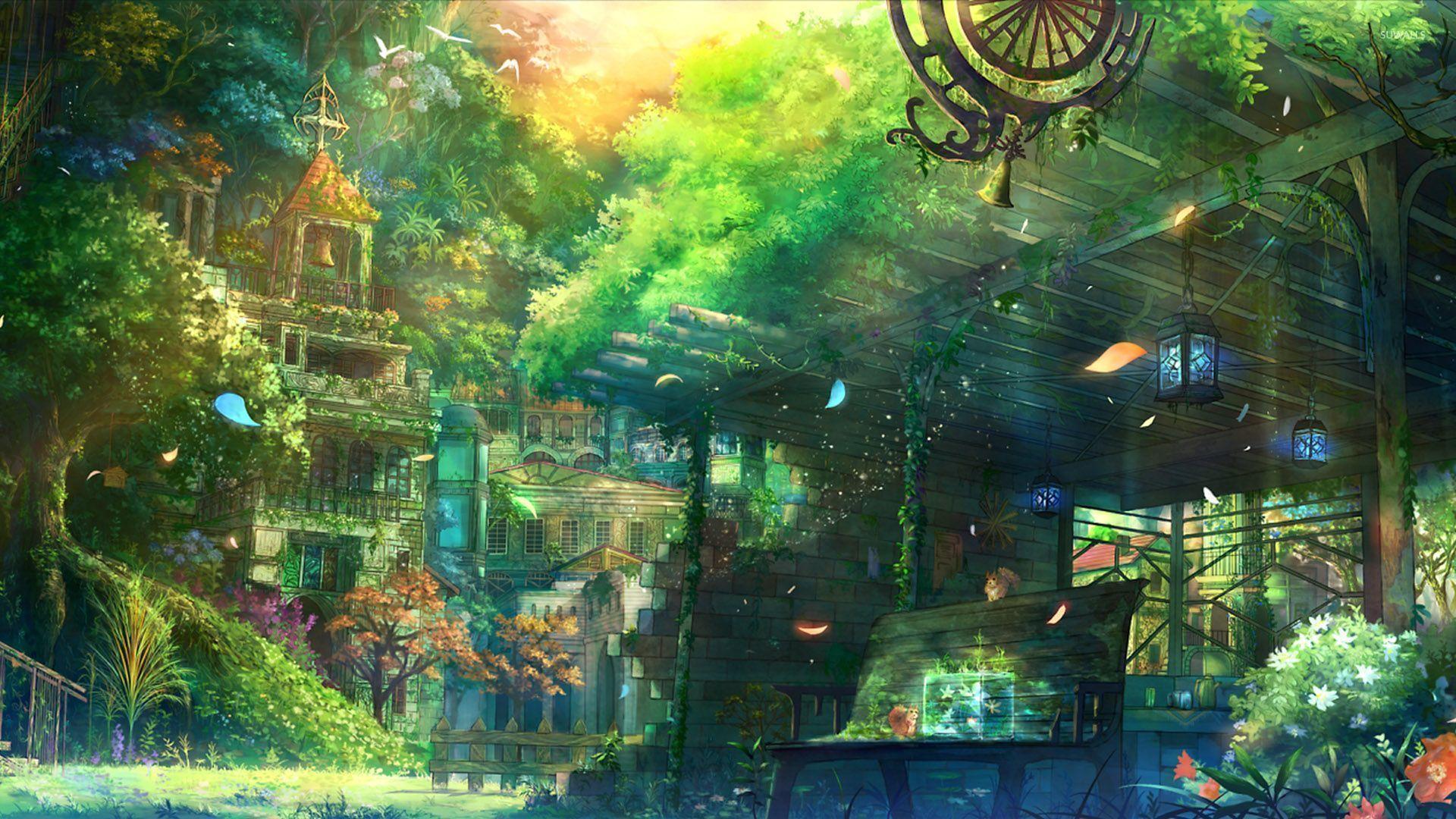Anime Garden Wallpapers - Top Free Anime Garden Backgrounds -  WallpaperAccess