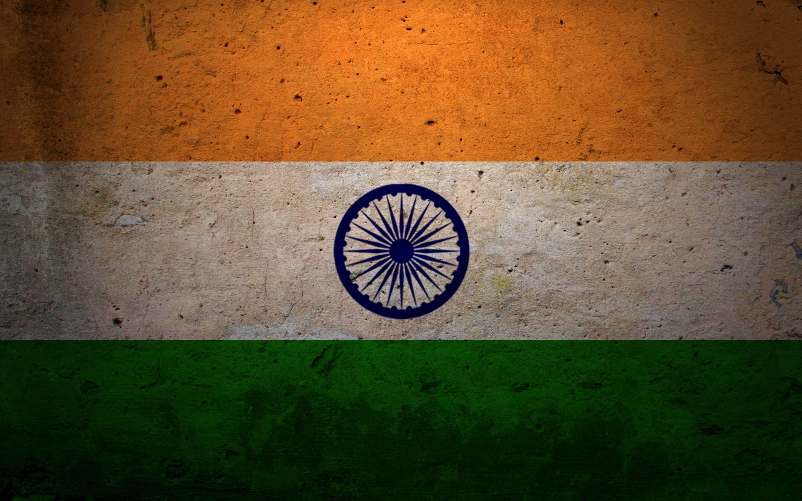 Indian Flag Abstract Art