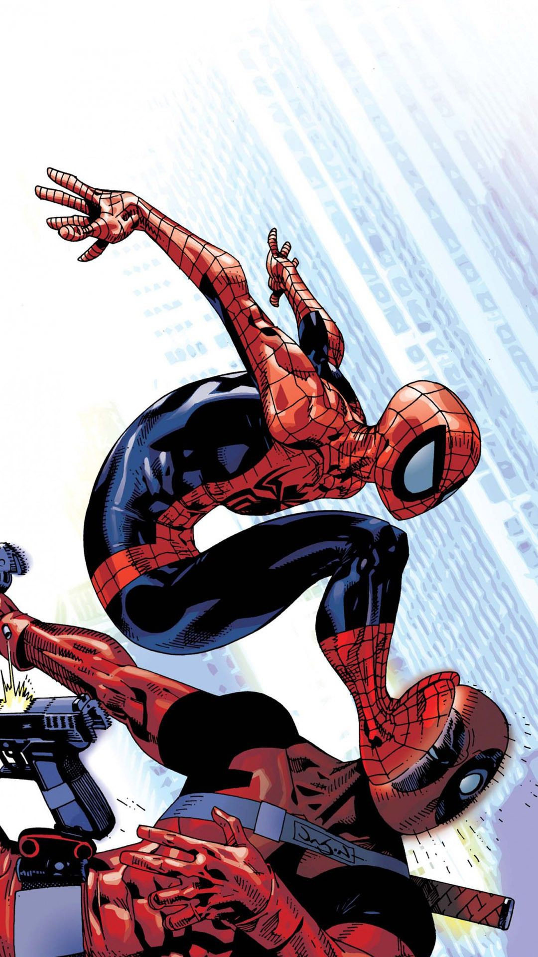 Spider Man Deadpool Cartoon Wallpapers Top Free Spider Man