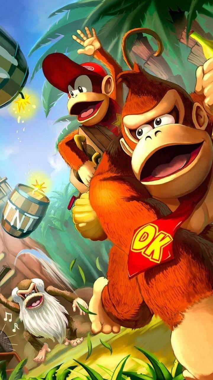 Donkey Kong Wallpapers Top Free Donkey Kong Backgrounds Wallpaperaccess