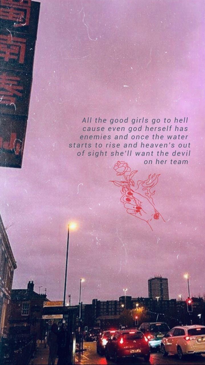 Billie Eilish Everything I Wanted Lyrics Wallpaper