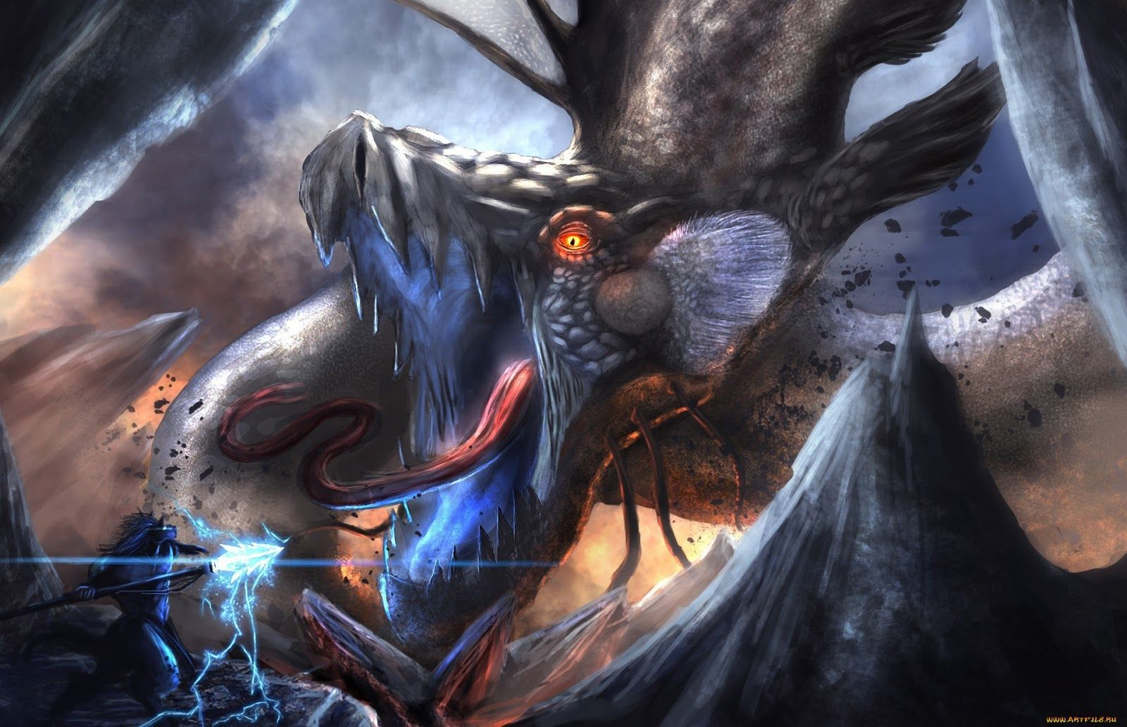 Epic Dragon Fantasy Art