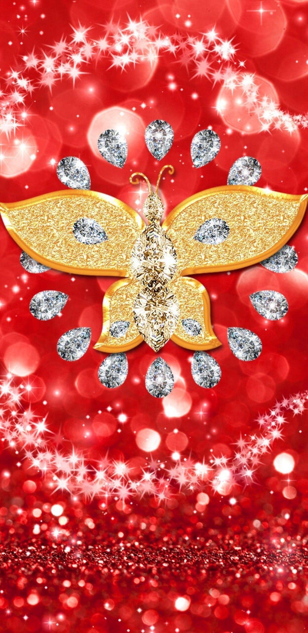 Картинки на телефон красивые четкие бриллианты и бабочки