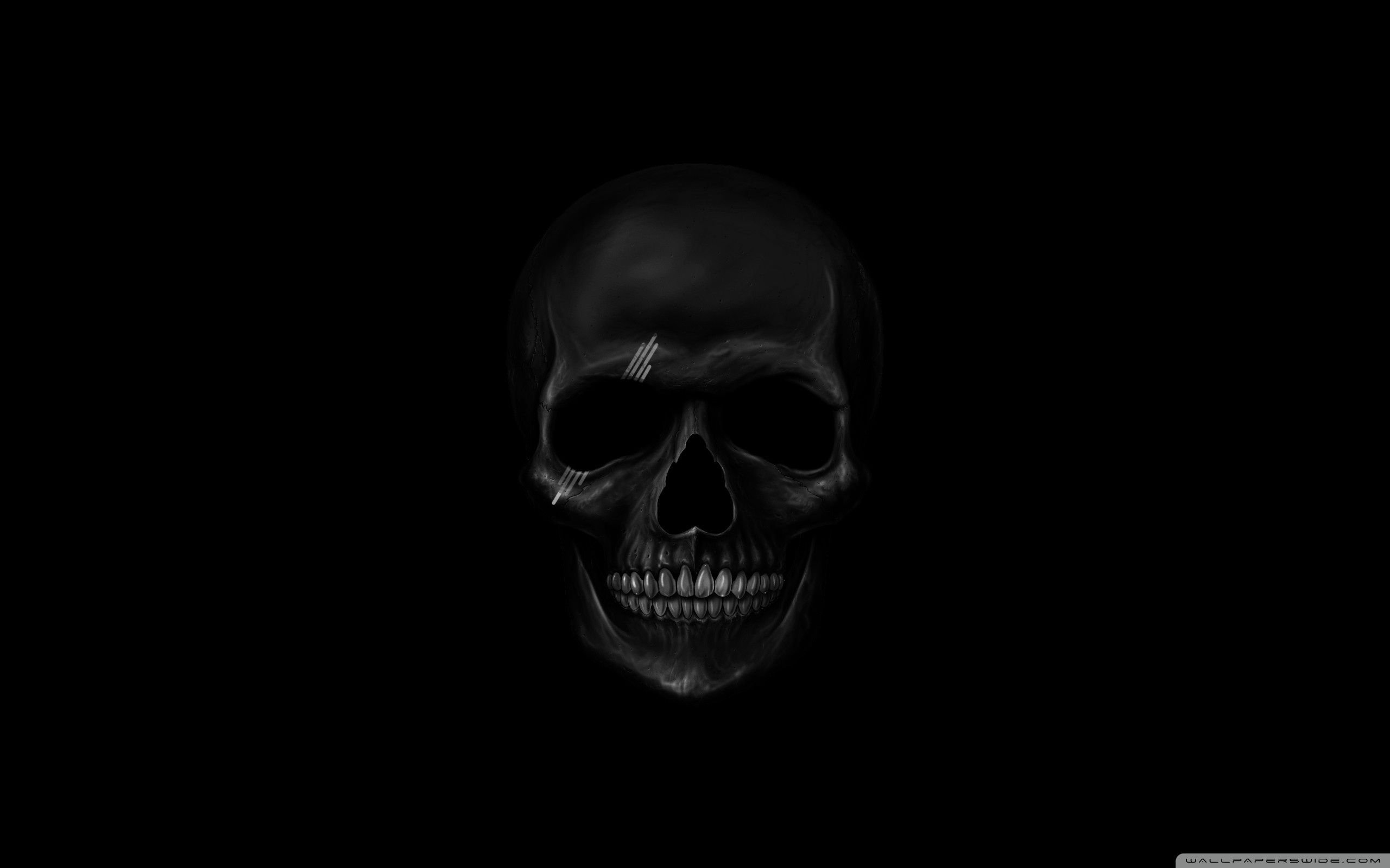 2560x1600 Black Skull ❤ 4K HD Desktop Wallpaper for 4K Ultra HD TV • Dual .