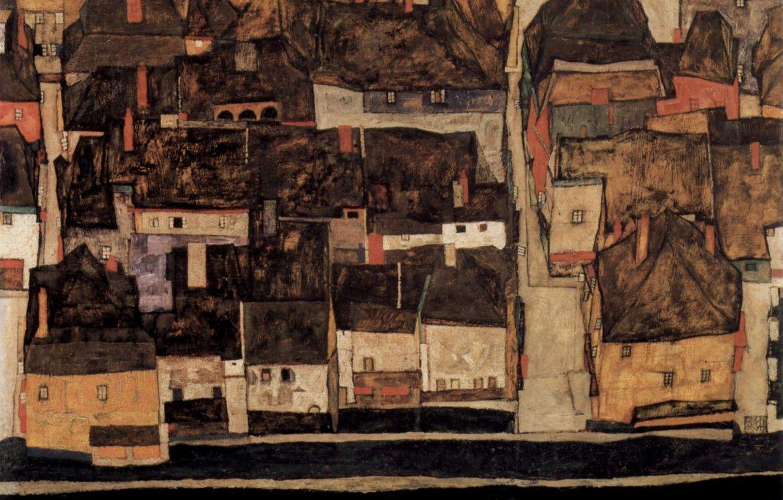 Hình nền 1332x850 Năm 1914, Egon Schiele, Krumau trên hình ảnh Moldova