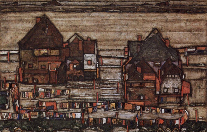 Hình nền 1332x850 Cảnh quan đô thị, Chủ nghĩa biểu hiện, Egon Schiele