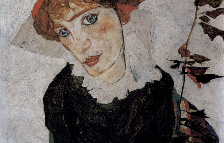 Chân dung hình nền 1332x850, 1912, Egon Schiele, Valerie Neuzil