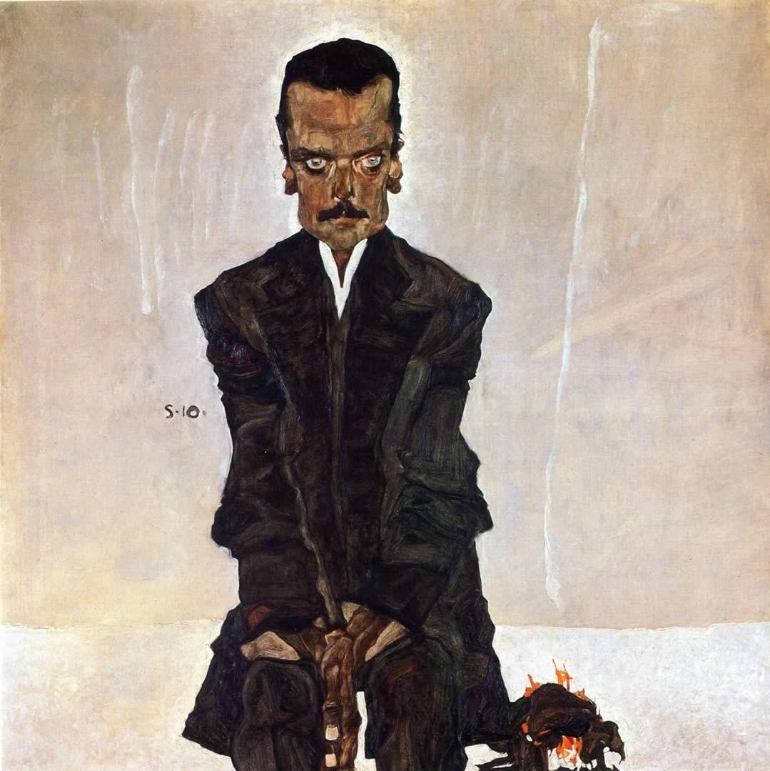 1079x1080 Chân dung của Eduard Kosmack - Hình nền Egon Schiele