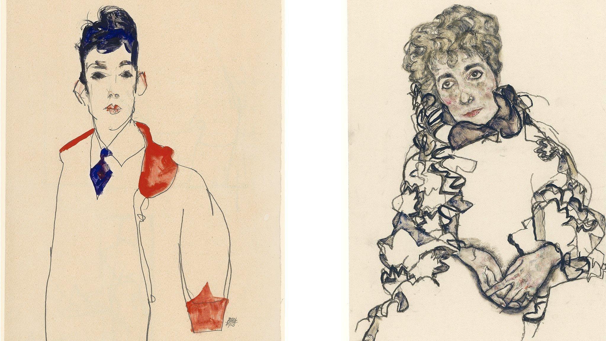 2048x1152 Egon Schiele: Chân dung, Neue Galerie, New York - đánh giá