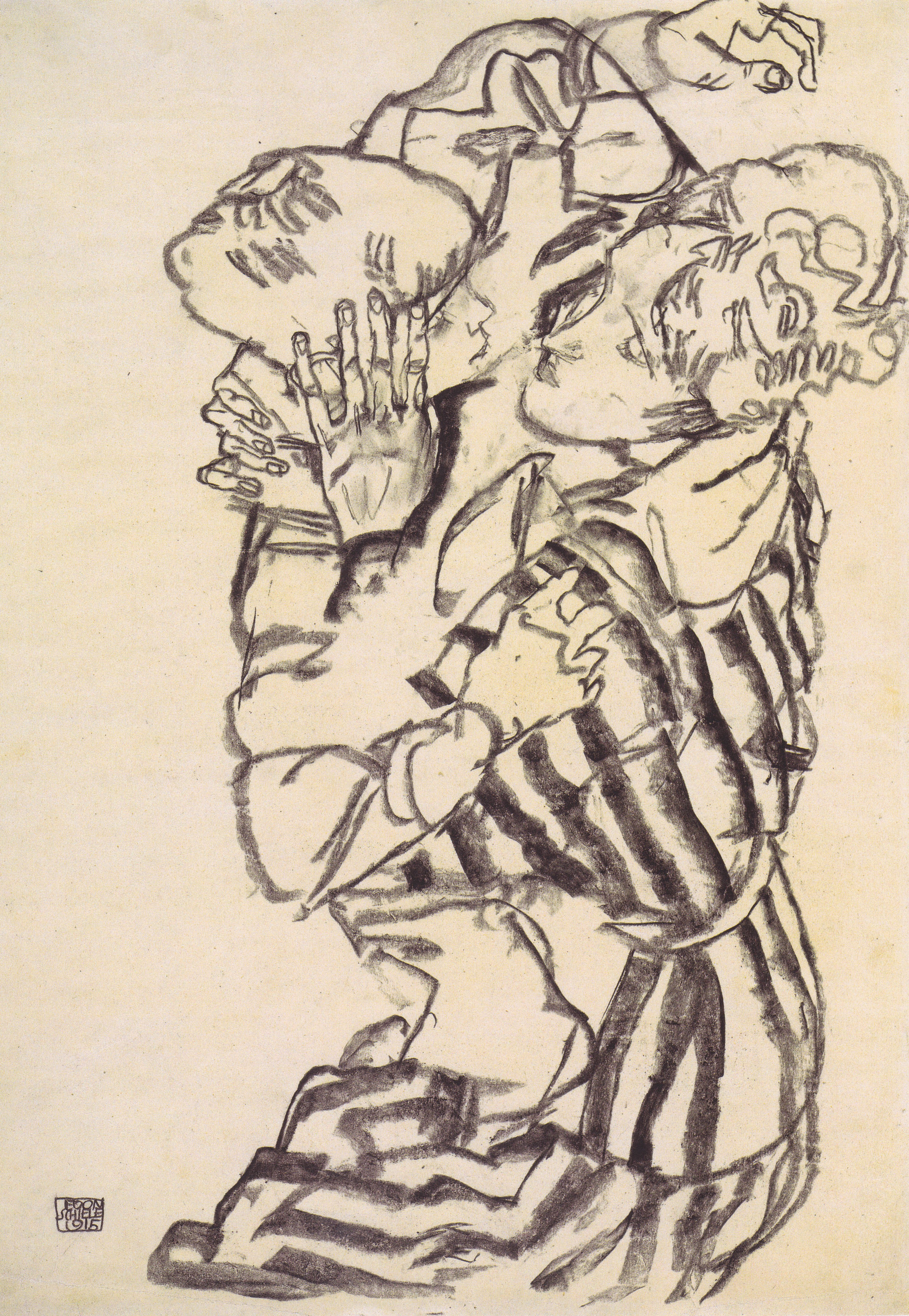 3900x5646 Egon Schiele - Edith Schiele mit ihrem Neffen - 1915