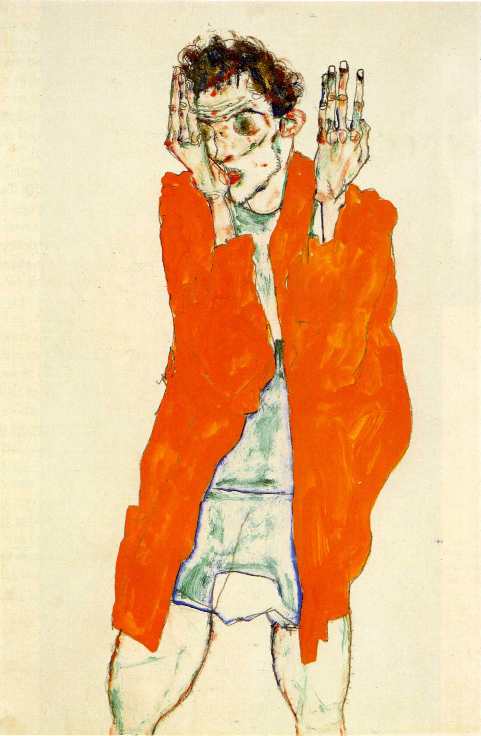 1664x2546 Egon Schiele - Mạng móng vuốt Ragged