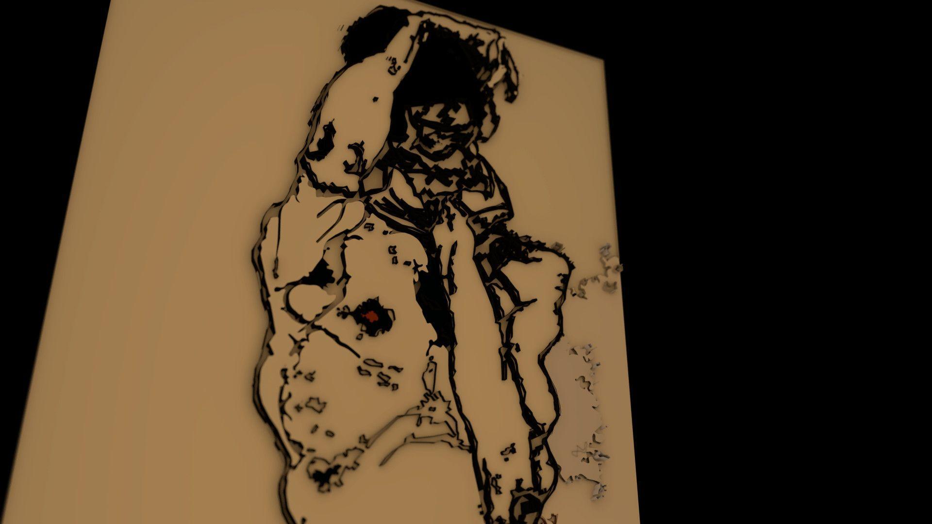 1920x1080 ArtStation - Egon Schiele Portrait Realiztion, Adam Adams