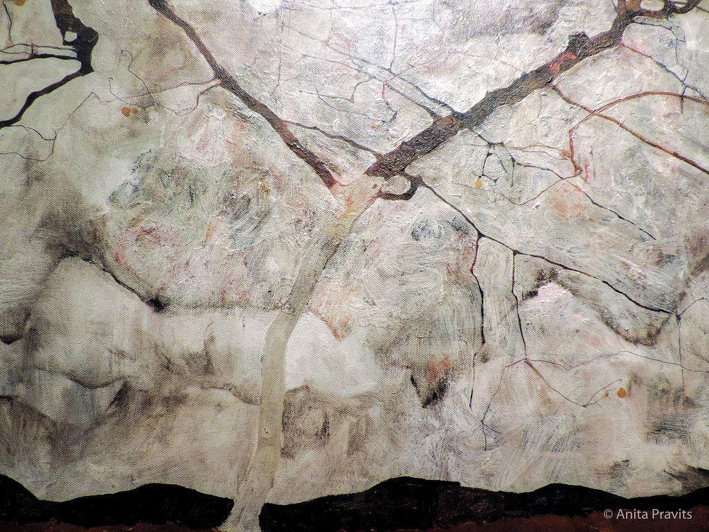 1024x768 Egon Schiele: Herbstbaum trong bewegter Luft (Winterbaum) / a