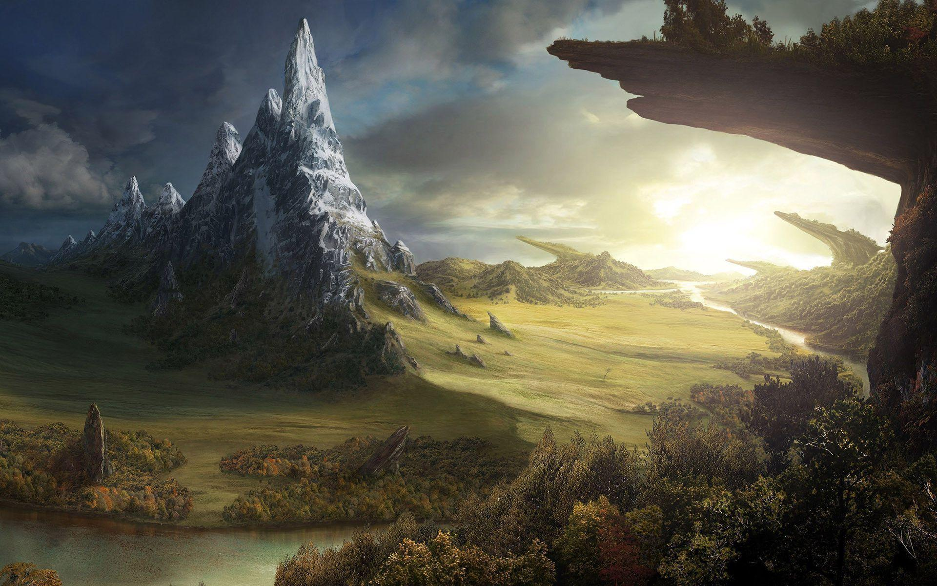 Fantasy World Wallpapers Top Free Fantasy World Backgrounds Wallpaperaccess