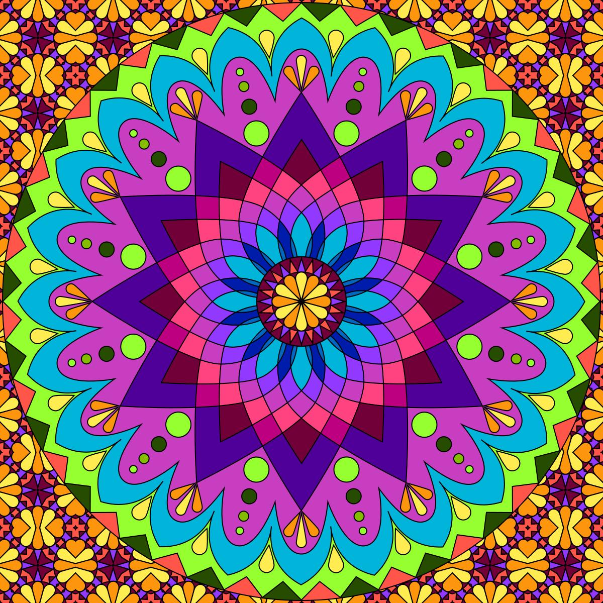 Colorful Mandala Pattern Wallpapers Top Free Colorful Mandala Pattern Backgrounds Wallpaperaccess
