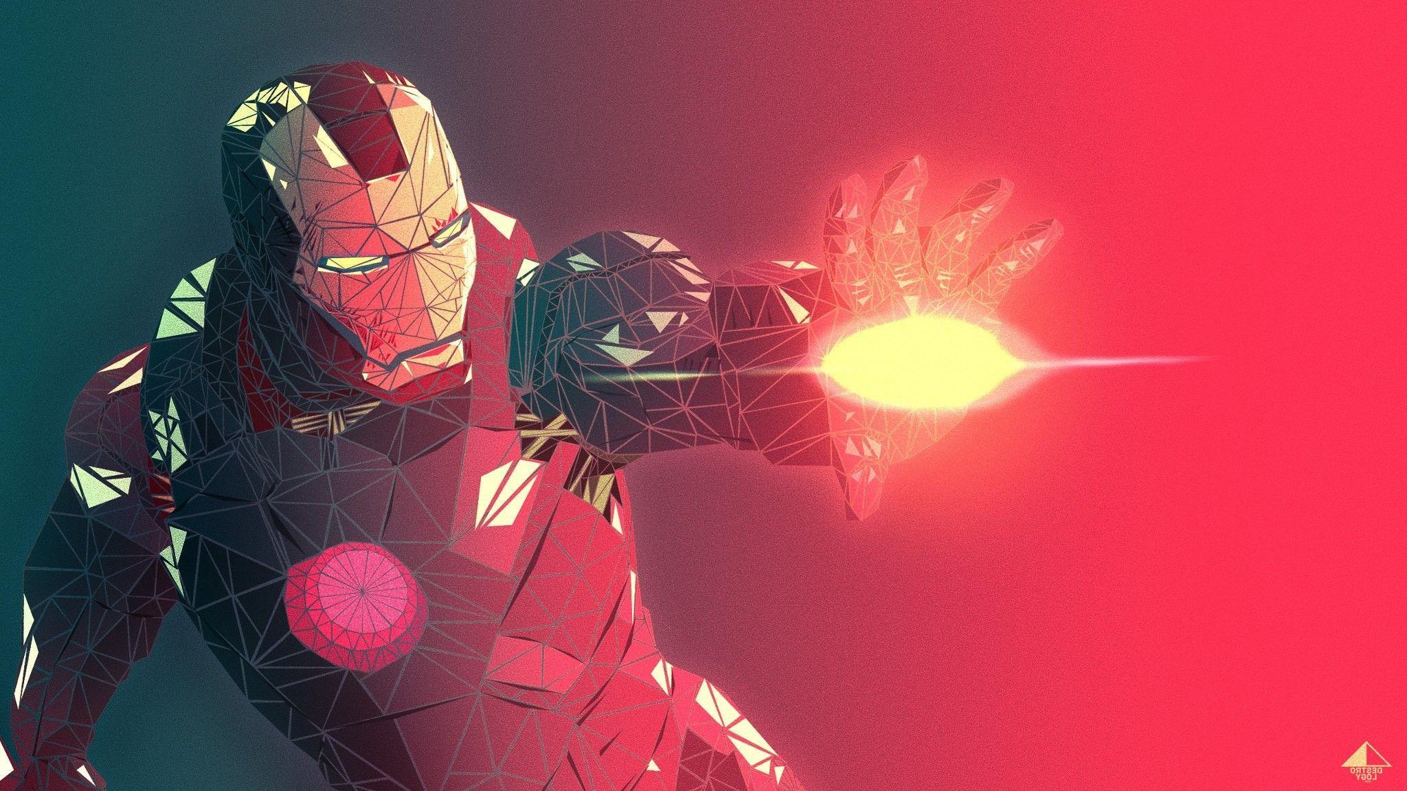Iron Man Abstract Art Wallpaper