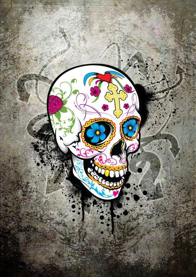 Sugar Skull Wallpapers Top Free Sugar Skull Backgrounds