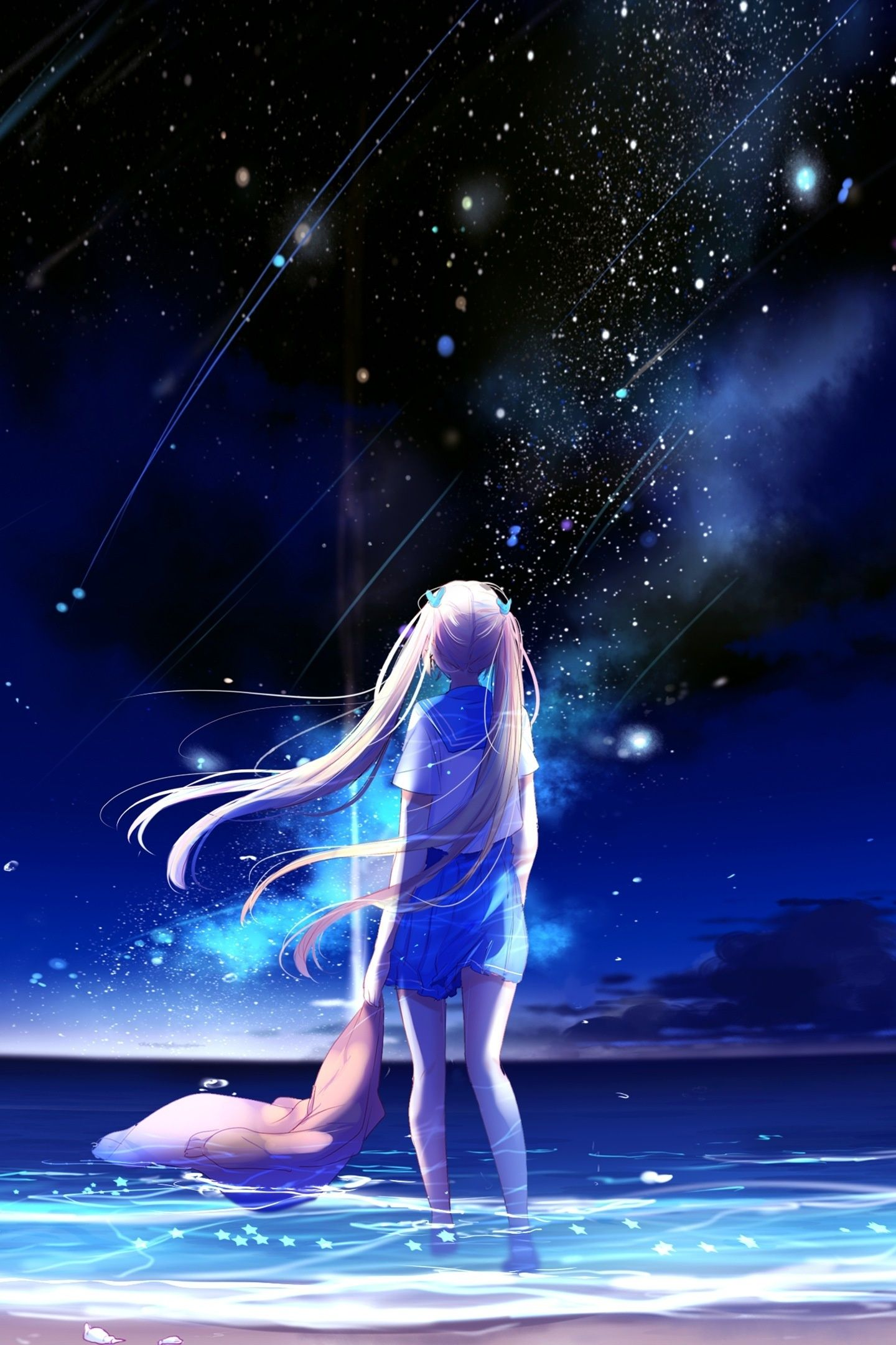Anime Galaxy Girl Wallpapers Top Free Anime Galaxy Girl Backgrounds Wallpaperaccess