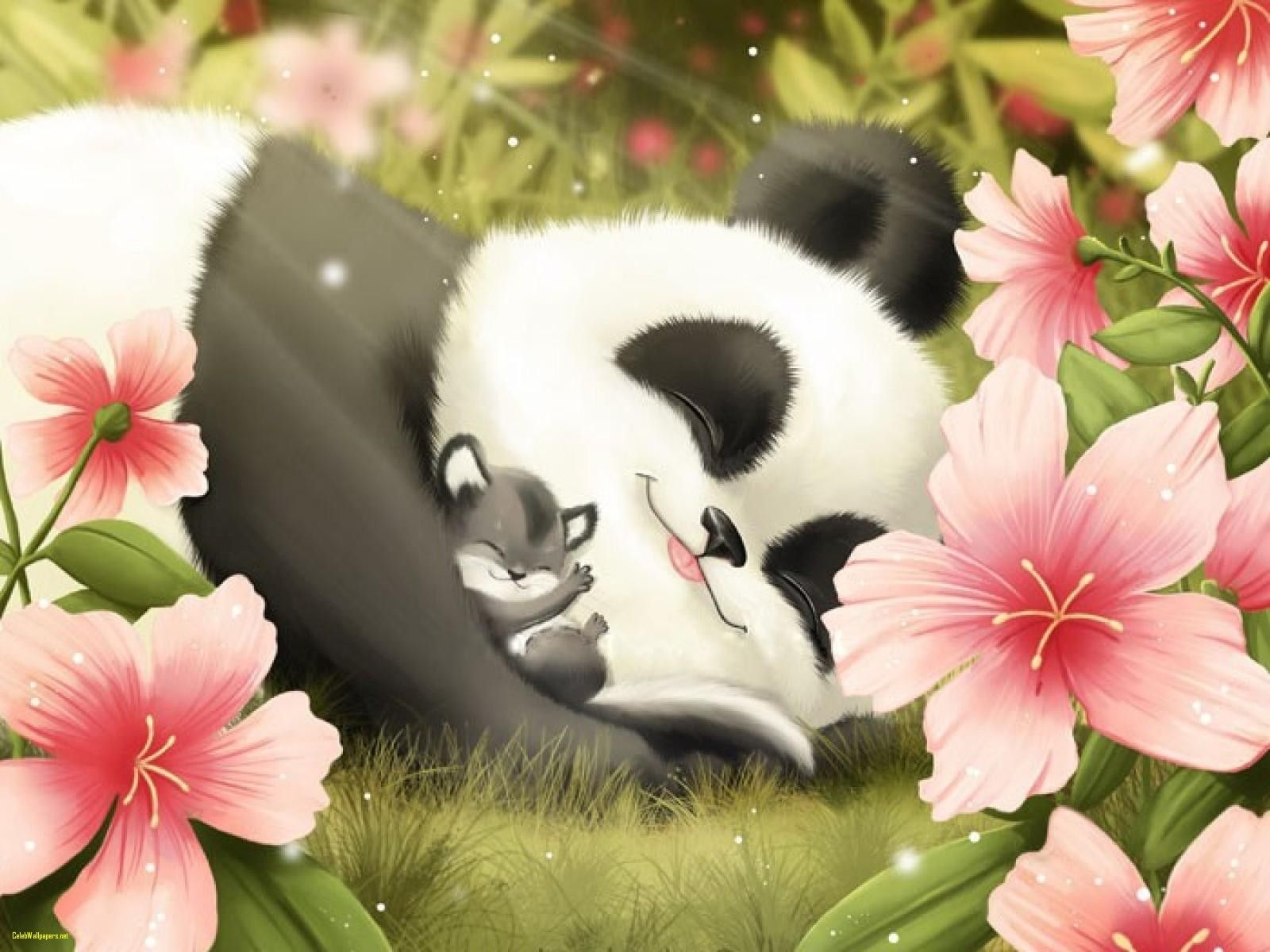 Cute Panda Wallpapers Top Free Cute Panda Backgrounds Wallpaperaccess