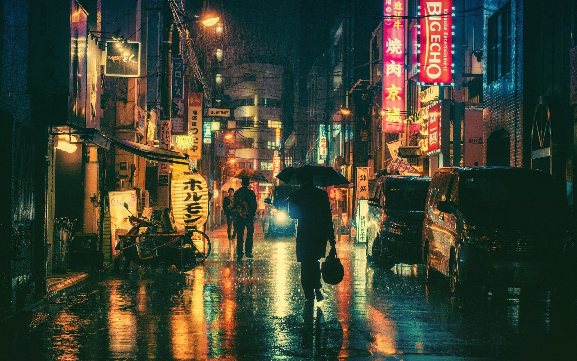 1920x1200 Wallpaper Japan Lights Street Light City Cityscape Night