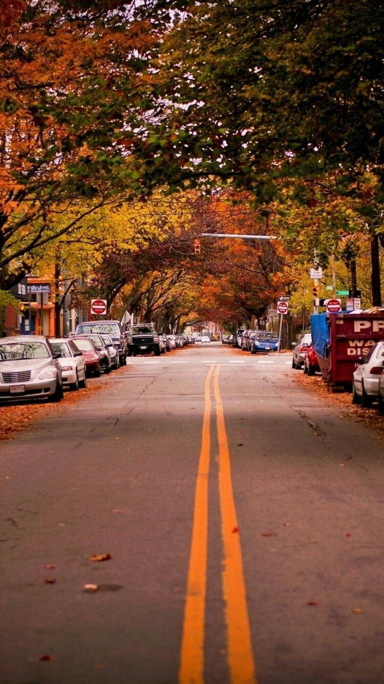 Autumn Street Wallpapers Top Free Autumn Street Backgrounds Wallpaperaccess