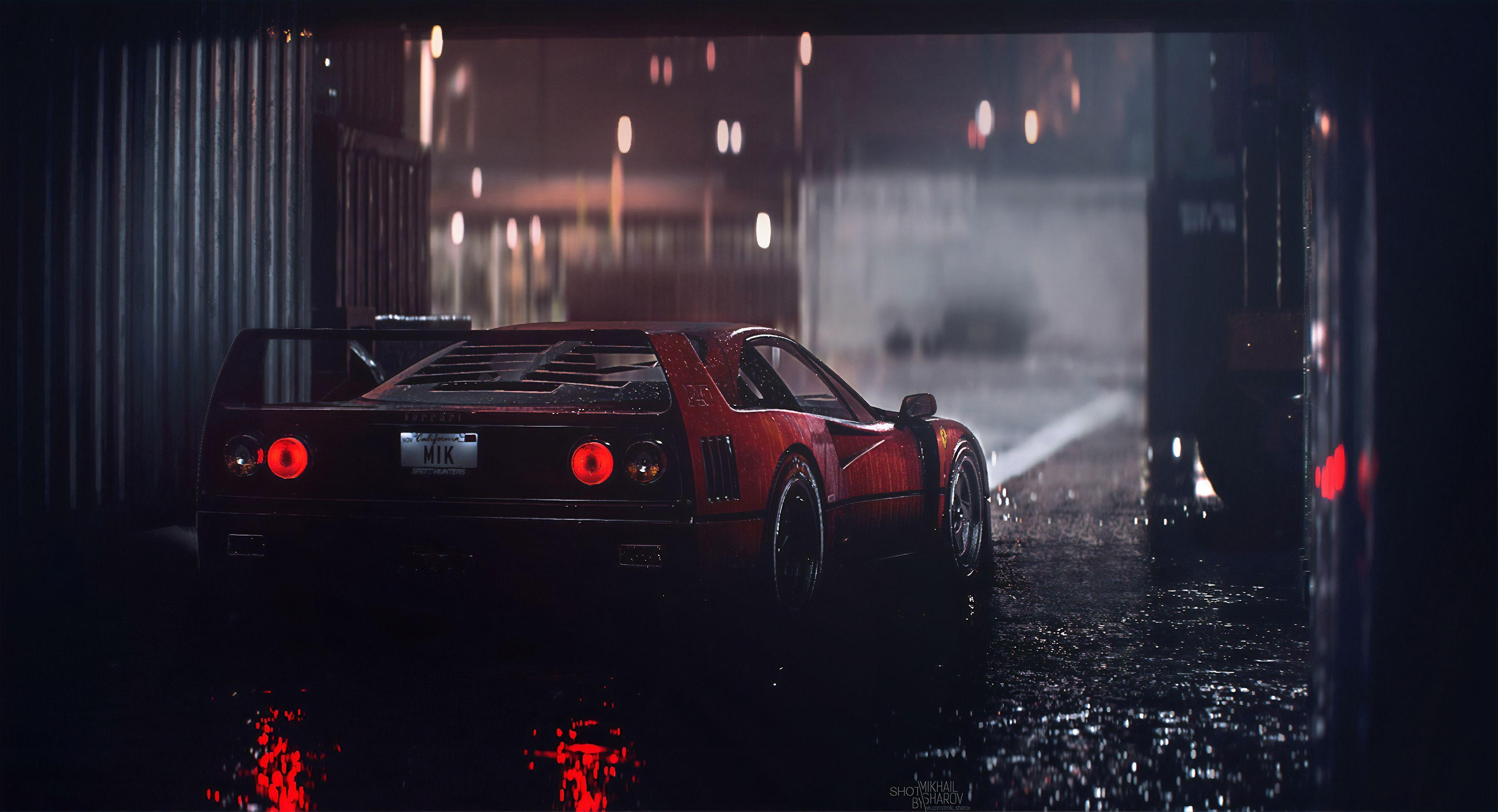 Download Ferrari F40 4K Wallpaper  Pictures