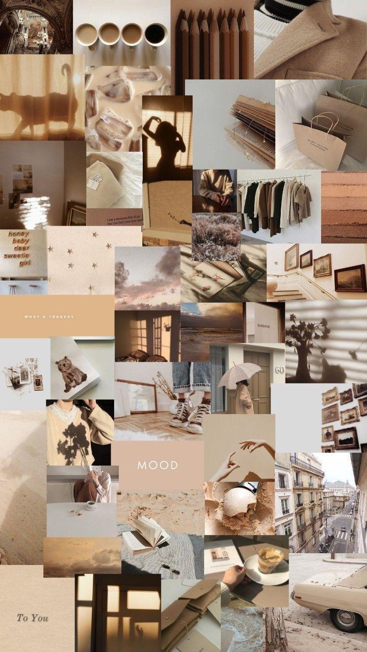 brown pastel aesthetic wallpapers