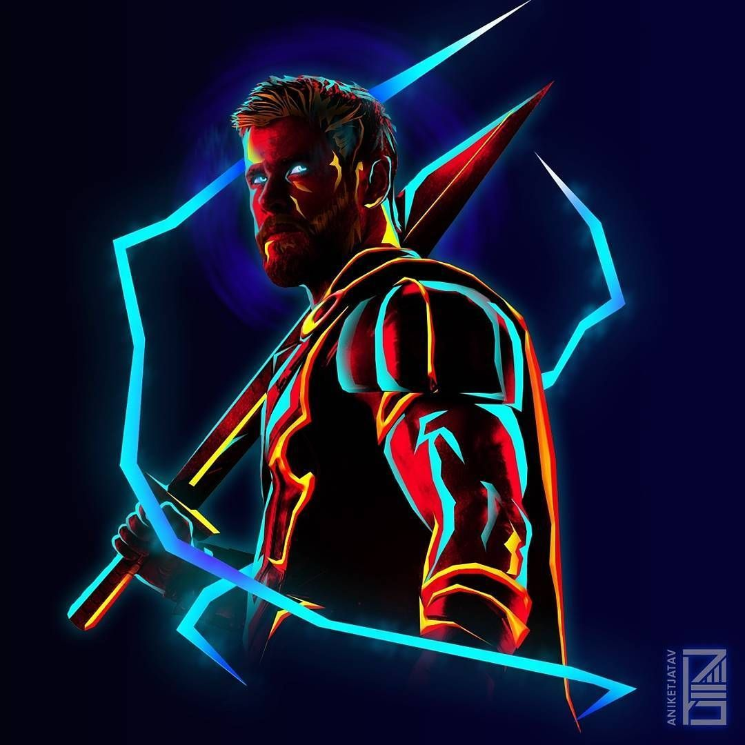 Thor Neon Wallpapers Top Free Thor Neon Backgrounds Wallpaperaccess