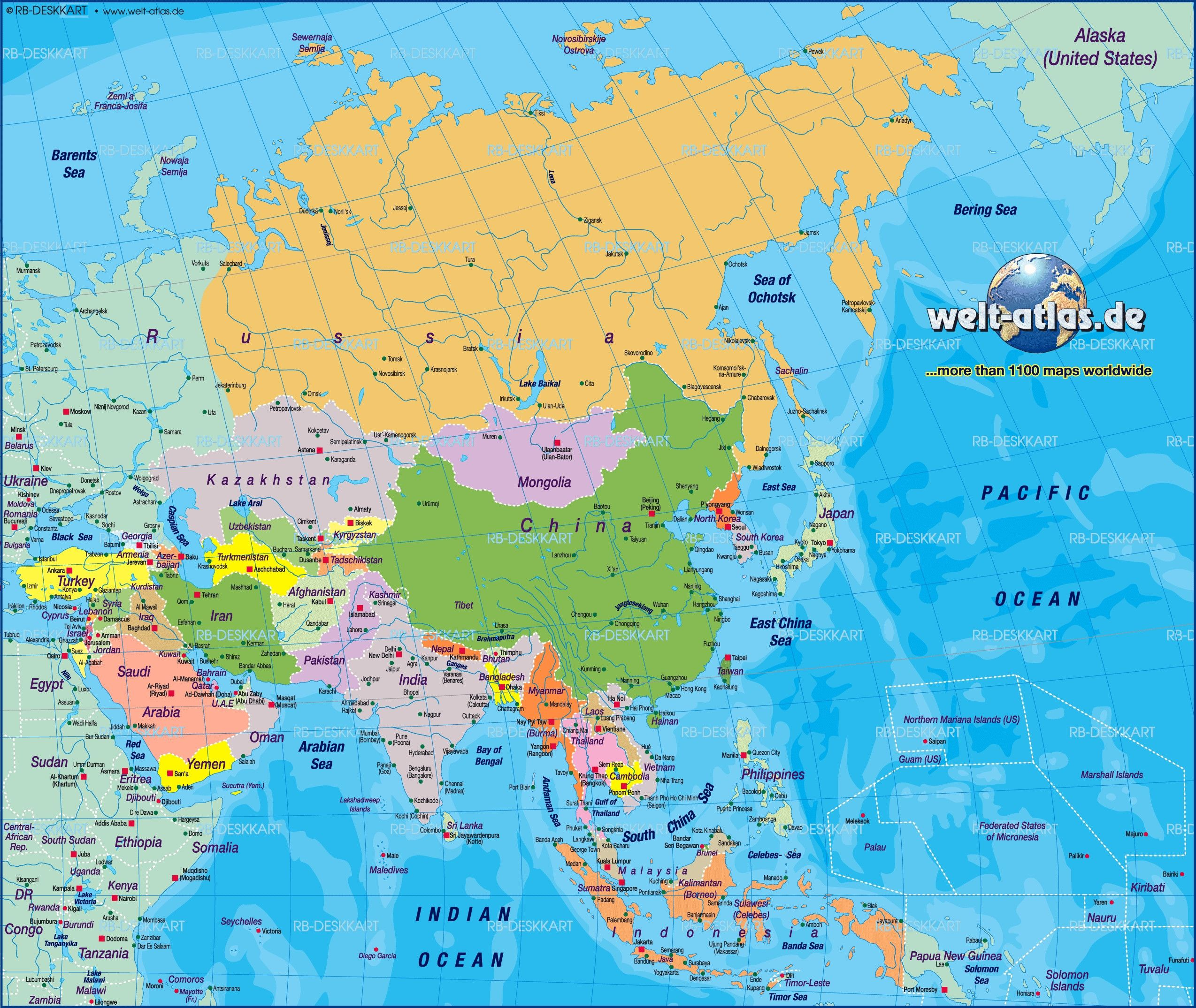 Asia Map Wallpapers - Top Free Asia Map Backgrounds - WallpaperAccess