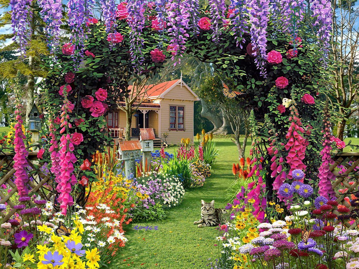 61 Best Free Cottage Garden Wallpapers Wallpaperaccess
