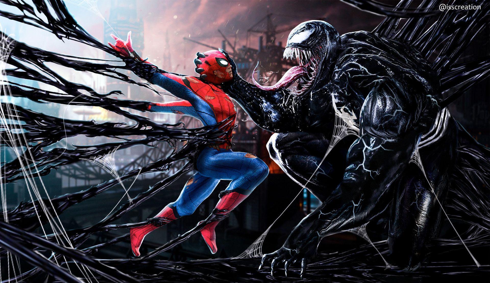 Spider Man Venom Wallpapers Top Free Spider Man Venom Backgrounds Wallpaperaccess