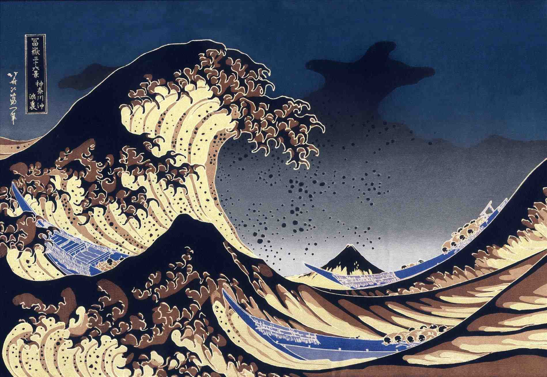 The Wave Japanese Painting Wallpapers Top Free The Wave Japanese