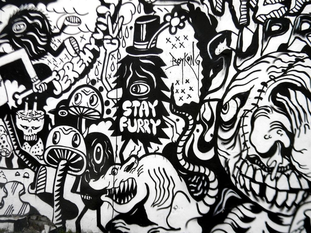 Black And White Graffiti Wallpapers Top Free Black And White Graffiti Backgrounds Wallpaperaccess