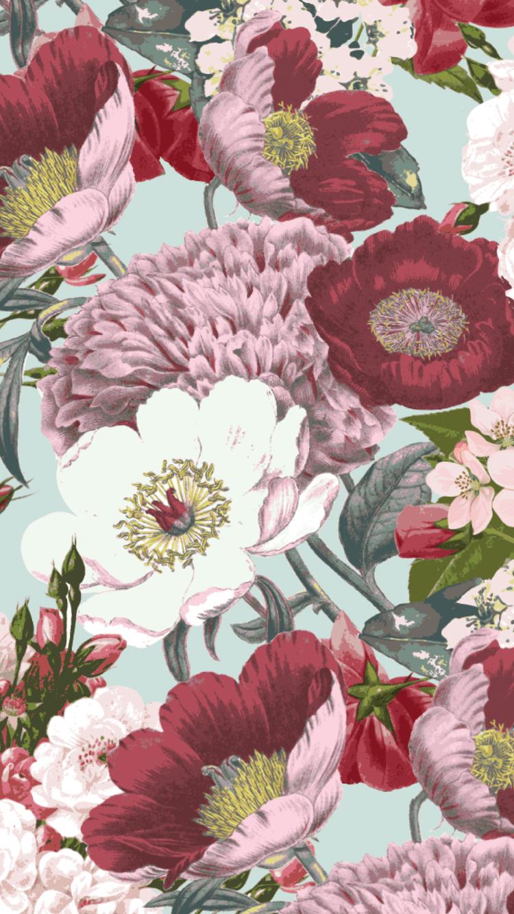 Iphone Wallpaper Vintage Flowers