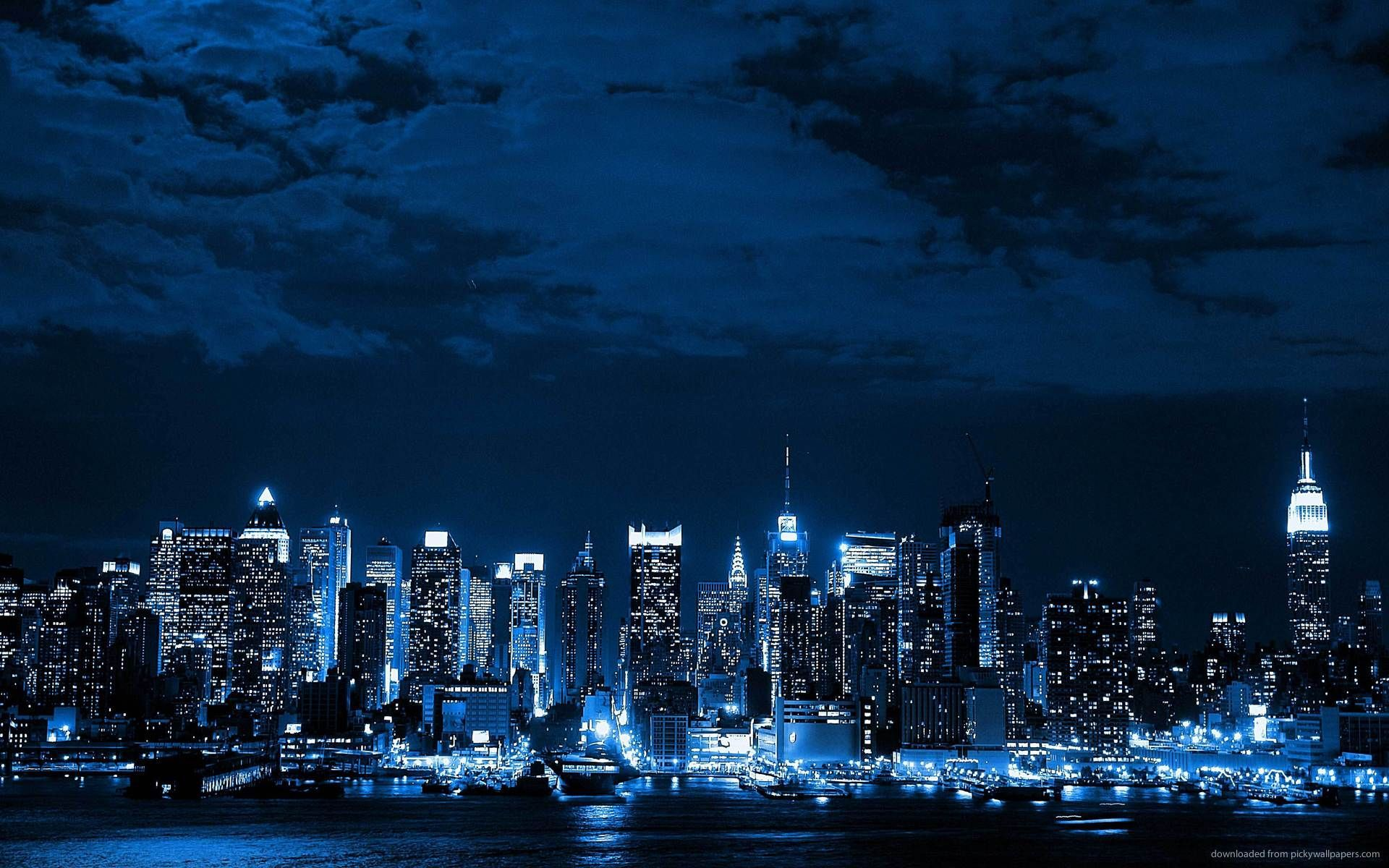 Blue City Wallpapers Top Free Blue City Backgrounds Wallpaperaccess