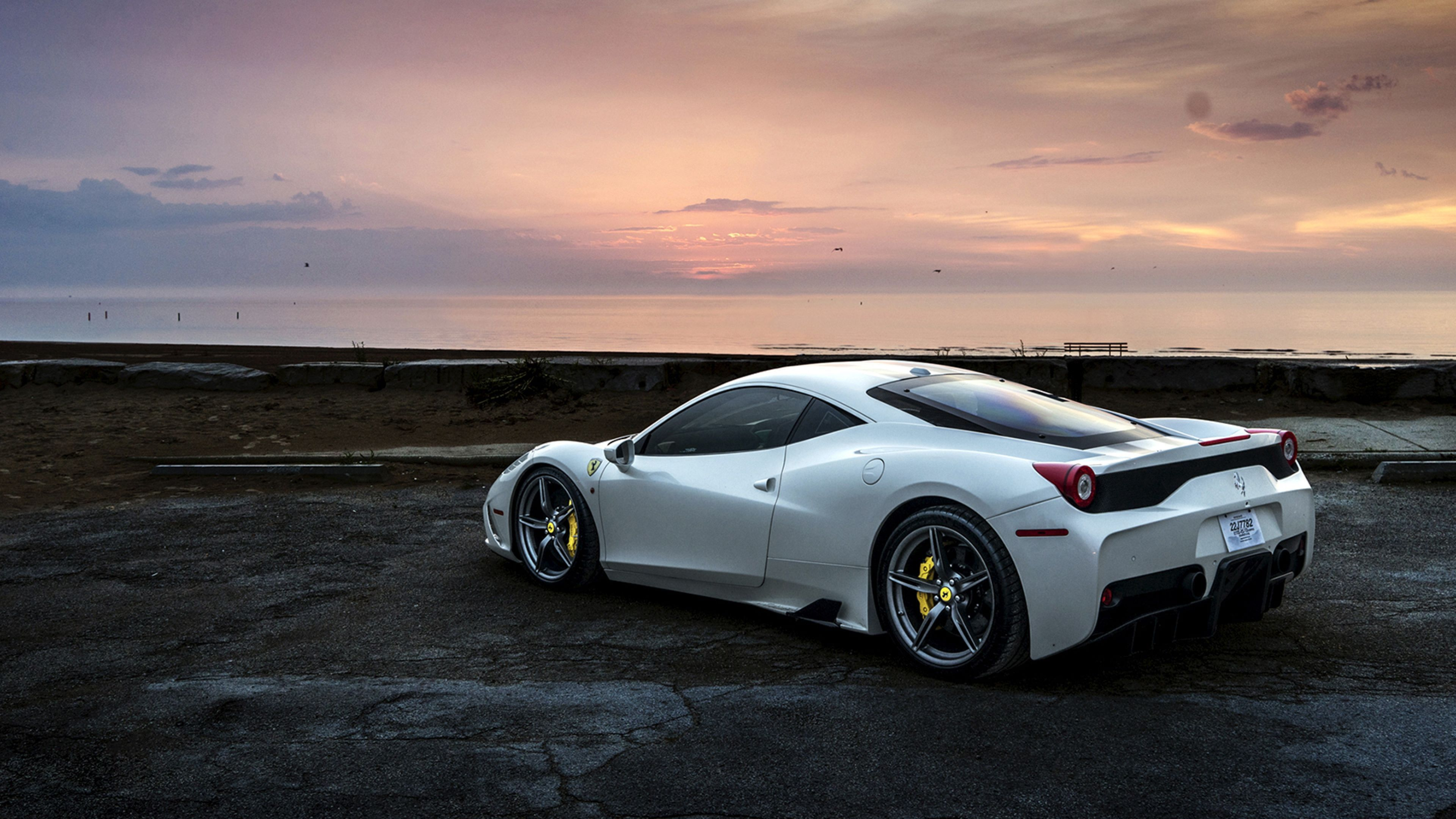 White Ferrari Wallpapers Top Free White Ferrari Backgrounds Wallpaperaccess