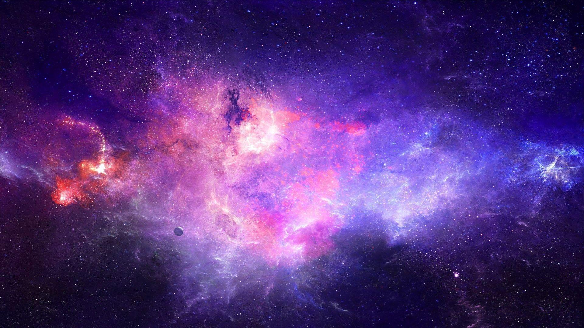 Hình nền in hình thiên hà 1920x1080