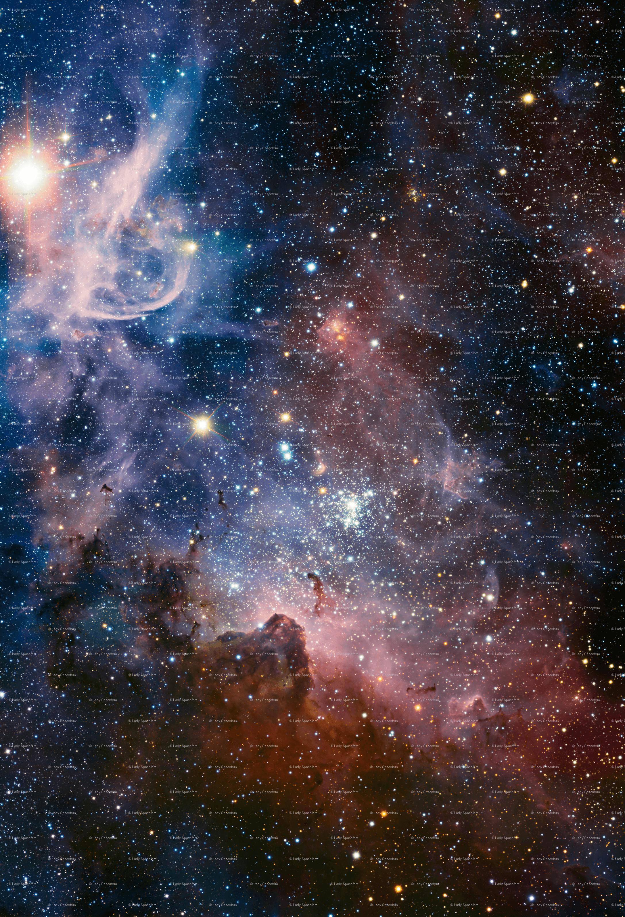 2174x3190 Carina Nebula 58x85 inch vải - spacefem