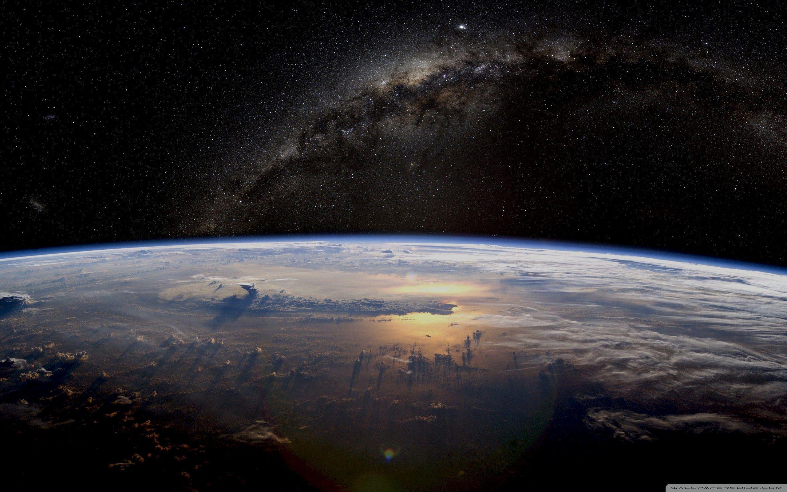 2560x1600 Tải xuống Earth Galaxy Space HD Hình nền