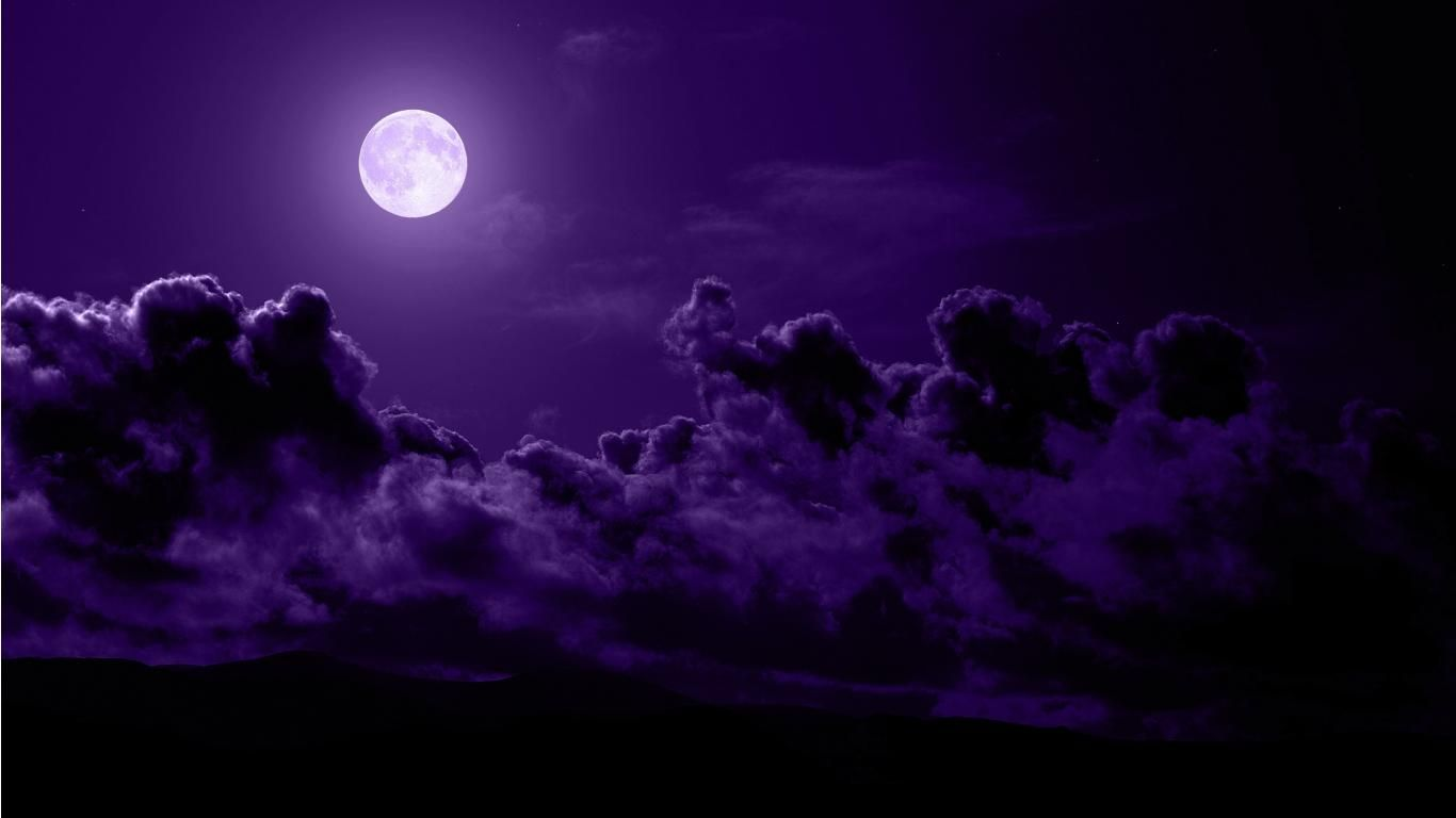 Purple Moon Wallpapers Top Free Purple Moon Backgrounds Wallpaperaccess