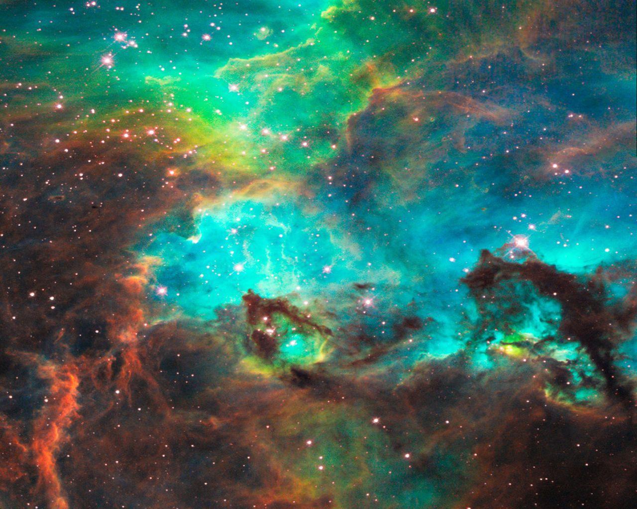 1280x1024 không gian bên ngoài, sao, thiên hà, hình nền tinh vân