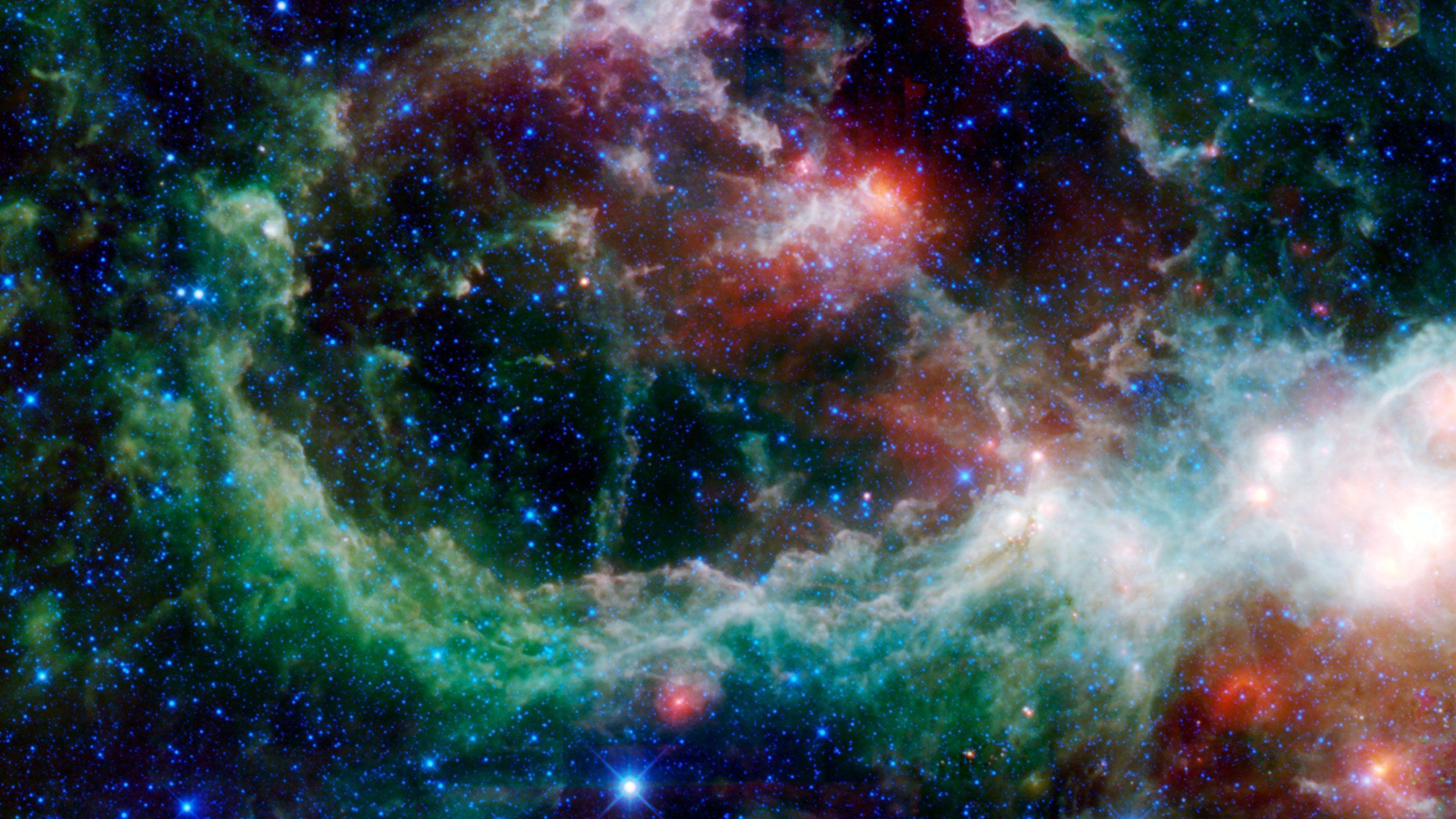 2560x1440 phổ quát.  Không gian hành tinh thiên hà hành tinh sao ngôi sao vũ trụ hình nền