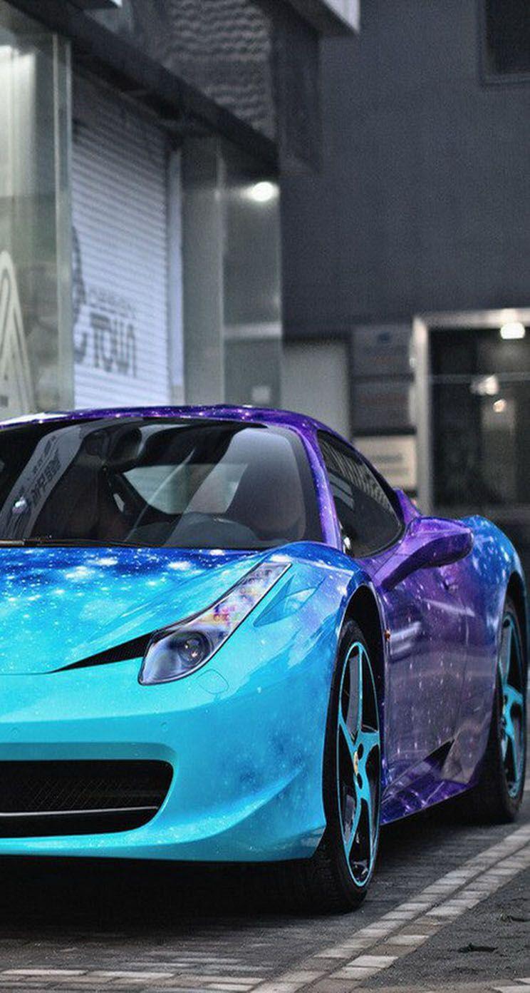 744x1392 Galaxy in Ferrari - Hình nền iPhone