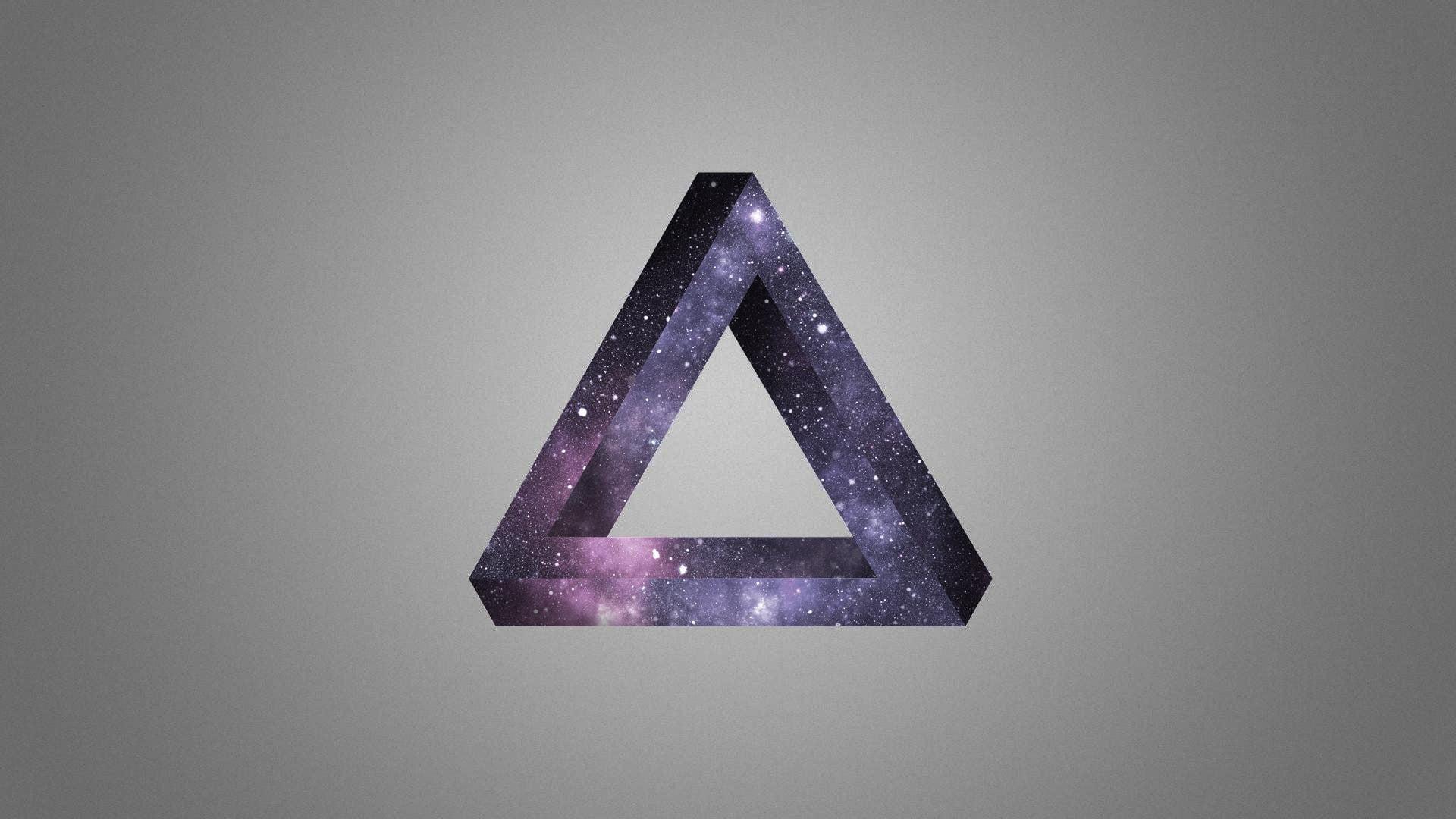 1920x1080 Tam giác màu tím thiên hà in trang trí hình nền HD