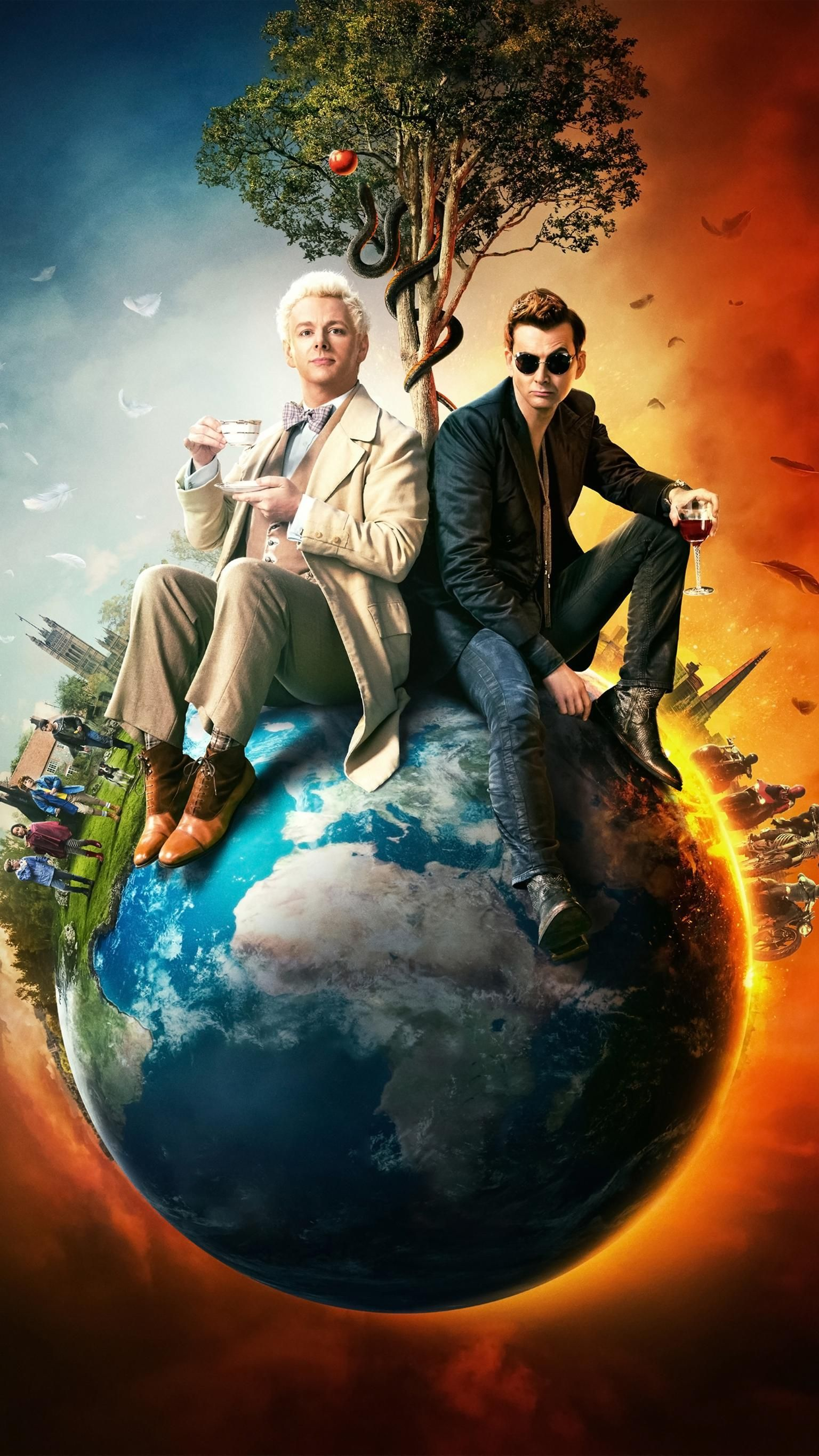 Good Omens Wallpapers Top Free Good Omens Backgrounds Wallpaperaccess