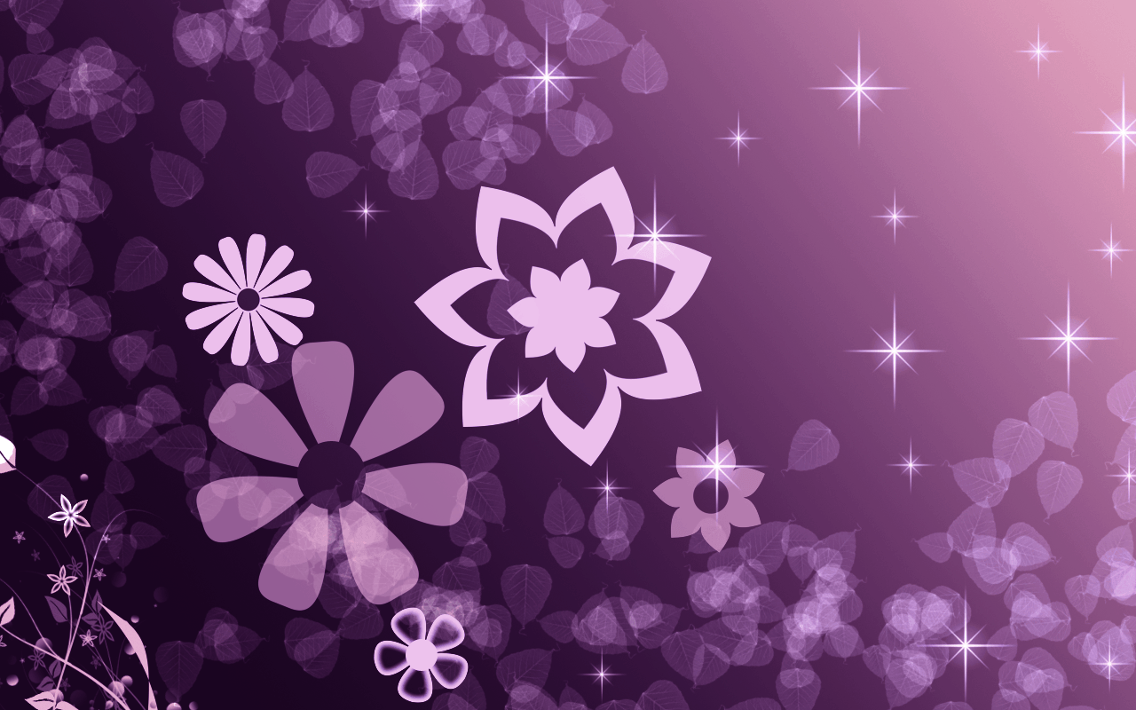 1280x800 Purple Star Wallpaper Desktop 7058