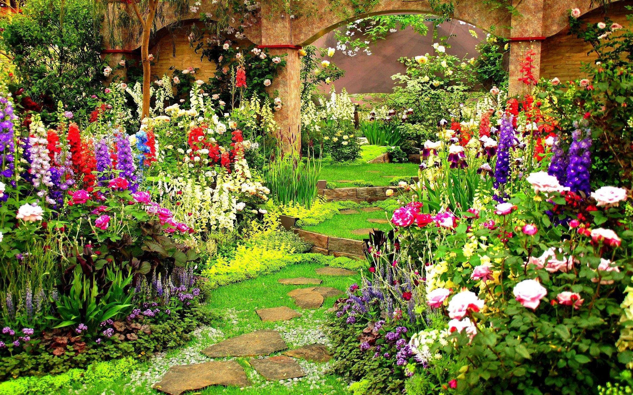 Spring garden wallpapers top free spring garden - Garden screensavers free ...