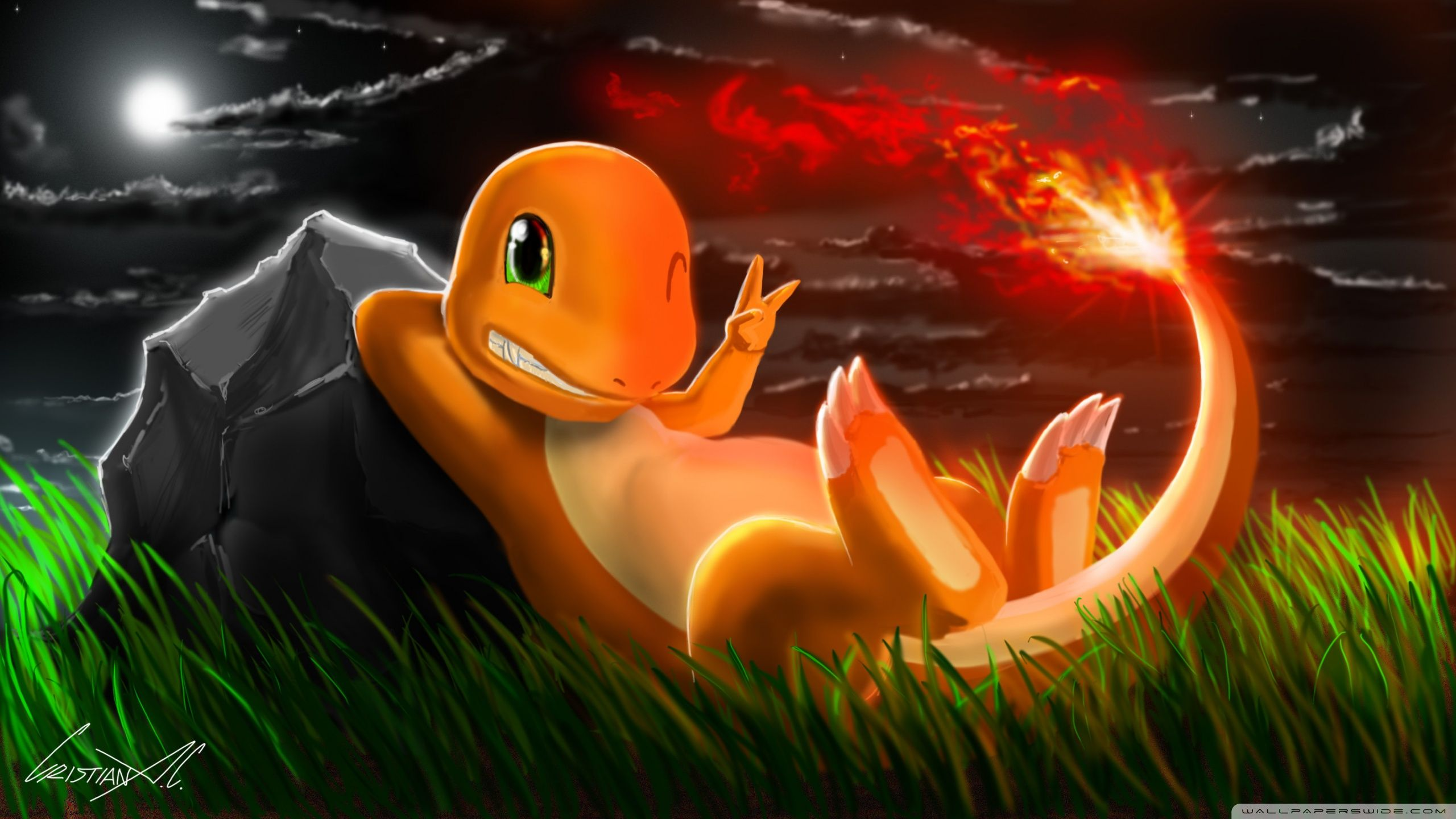 Pokemon Charmander Wallpapers Top Free Pokemon Charmander Backgrounds Wallpaperaccess