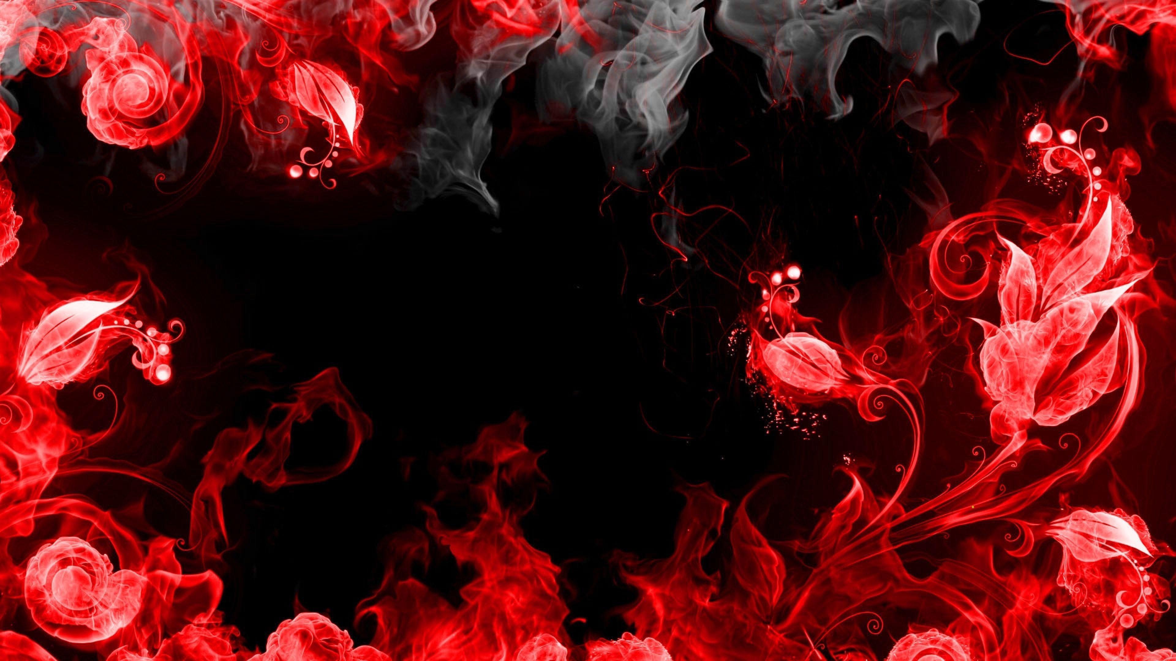 Red Smoke Wallpaper 4k